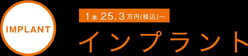 IMPLANT インプラント 1本 22万円~